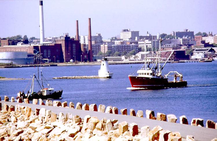 New Bedford, Massachusetts - view from harbor